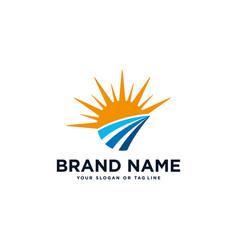 Creative logo design sunshine vector