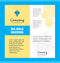 diamond company brochure title page design vector image