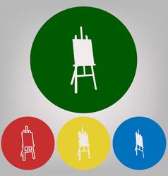 easel sign 4 white styles of icon at 4 vector image