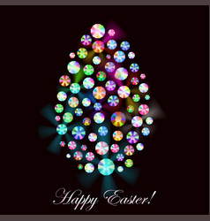 Easter egg made of rhinestones vector