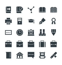 Education Cool Icons 3 vector image