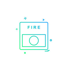 fire alarm icon design vector image
