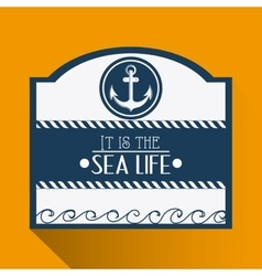 Flat about anchor design vector image