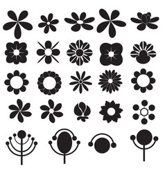 flowers icon for decorative and beauty design vector image