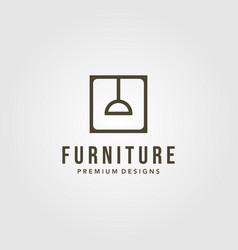 furniture interior lamp symbol logo design vector image