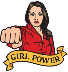 girl power design - girl punchinggirl power design vector image