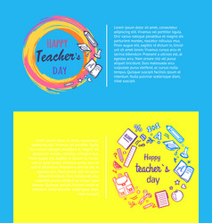Happy teachers day promo vector