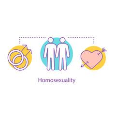 Homosexuality concept icon vector