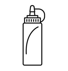 Hot dog ketchup bottle icon outline style vector