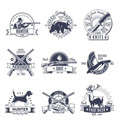 Hunting Vintage Style Emblems vector