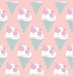ice cream cone seamless pattern pastel vector image
