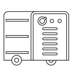 Inverter welding machine icon outline vector