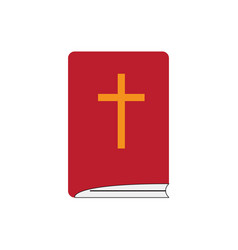 isoalted holy bible icon vector image