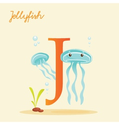J for jellyfish vector