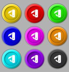 knife picnic icon sign symbol on nine round vector image