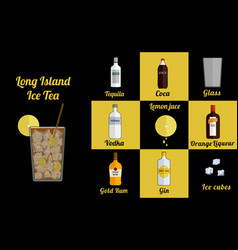 Long island ice square vector