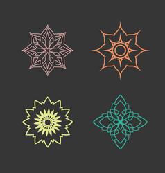 lotus logo design icon set vector image