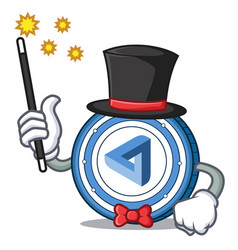 Magician maidsafecoin mascot cartoon style vector