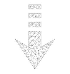 mesh send down icon vector image