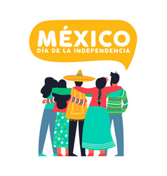mexico independence day card of mexican friends vector image