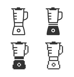 monochromatic blender icon in different variants vector image