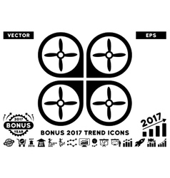 Nanocopter Flat Icon With 2017 Bonus Trend vector image