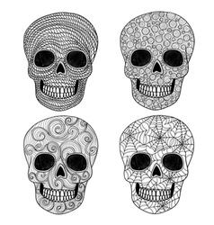 Ornament skull set vector image vector image