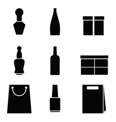 packaging icons on white background vector image