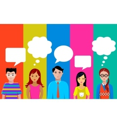 people talk vector image