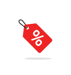 sale tag icon flat cartoon discount label vector image