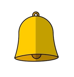school bell isolated icon vector image
