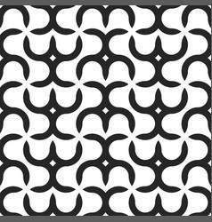 seamless geometric pattern - modern black vector image