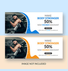 Set corporate promotional facebook cover vector