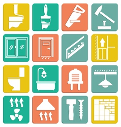 Set icons repair vector image
