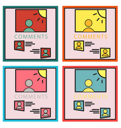 Set of self photo concept comments on the photo vector