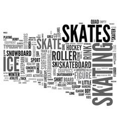 Skating word cloud concept vector