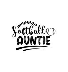 Softball auntie vector