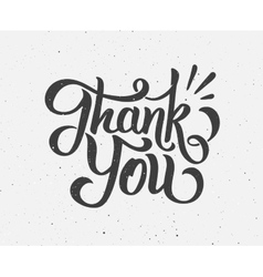 Thank You hand drawn lettering vector image