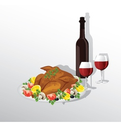 Thanksgiving dinner vector