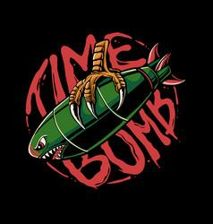 time bombi llustration vector image