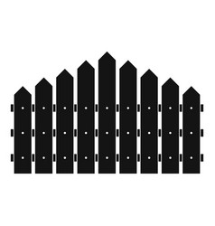 Triangular fence icon simple style vector