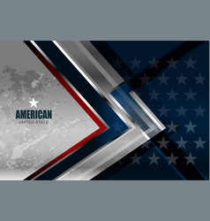 usa american flag background vector image