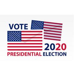 usa presidential election vote poster design vector image