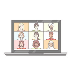 video meeting conference online business vector image