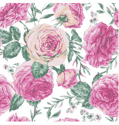 Vintage floral greeting card with pink vector