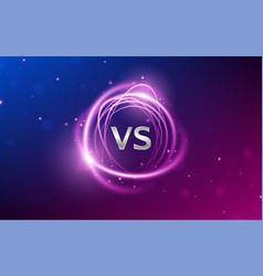 vs versus battle background sports competition vector image