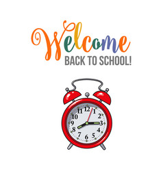 welcome back to school poster design with red vector image