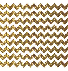 White chevron pattern with sparkly gold effect vector