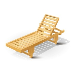 wooden beach bed vector image