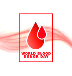 World blood donor day event concept poster design vector